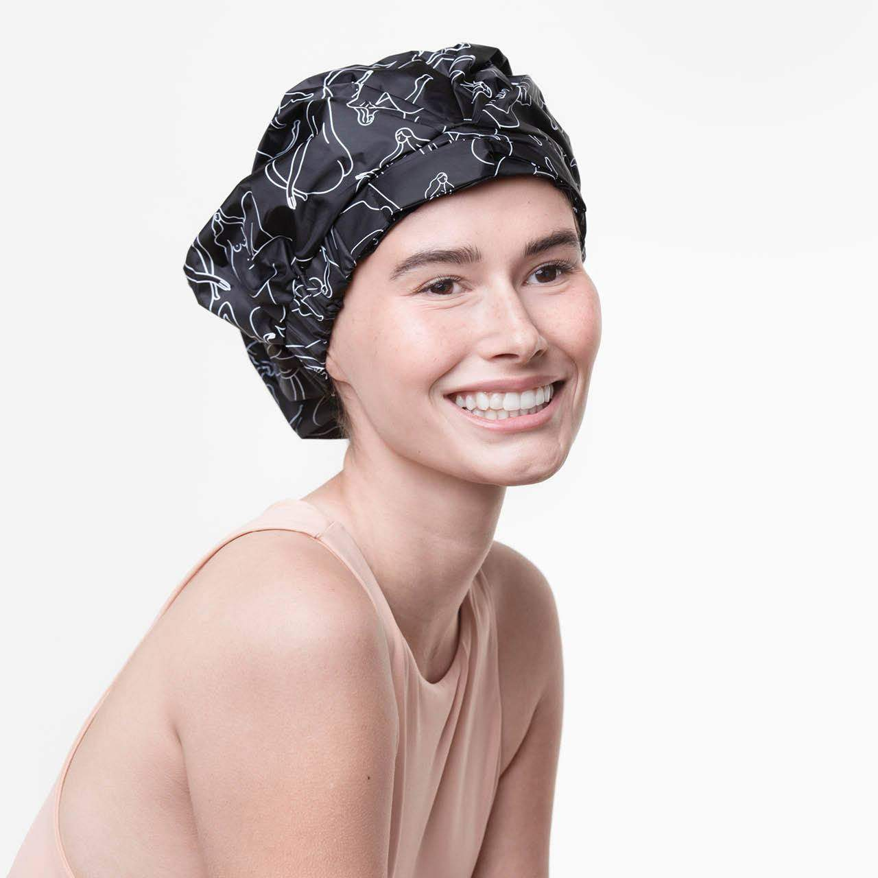 Luxury Shower Cap - Body Positive in Recycled Polyester Shower Caps Shower Caps
