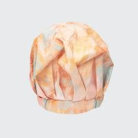 Luxury Shower Cap - Sunset Tie Dye in Recycled Polyester Shower Caps Shower Caps