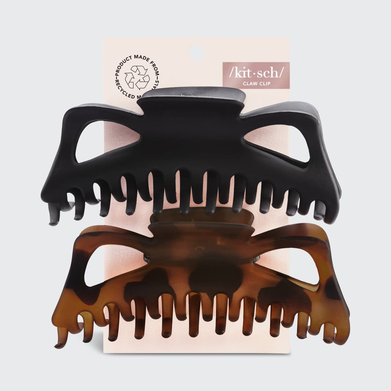 Jumbo Classic Claw Clips 2pc - Recycled Plastic Hair Accessories Hair Accessories